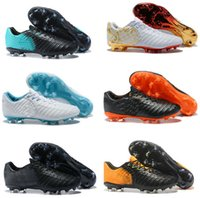 Wholesale cr7 football shoes - 2018 Tiempo VII Legend FG CR7 Soccer Boots Men Six Choice Vivid Colors Fashion Top Quality Football Shoes Size In