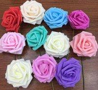 ingrosso fiore di rosa schiuma di 7cm-11 colori 7CM Artificiale Rosa Fiori Sposa Bouquet PE Schiuma FAI DA TE Home Decor Rosa Fiori Spedizione Gratuita