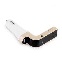 автомагнитолы usb mp3 оптовых-G7 Автомобильный Bluetooth FM-передатчик Aux Модулятор Автомобильный комплект громкой связи Аудио MP3-плеер Поддержка TF карта с USB Автомобильное зарядное устройство