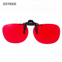 Wholesale pictures blinds - ZXTREE Driver's license Look picture Green Color Blind Glasses Clip Corrective Sun Glasses Women Men Color-blindness Z2