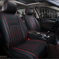 Wholesale leather headrest cushions for sale - Group buy all cars Fashion Full Surround Headrest Luxury PU Leather Support Pad Universal Car Seat Cushion