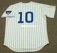 Maglie personalizzate da uomo RON SANTO 1969 Majestic Cooperstown Throwback Home Baseball Jersey