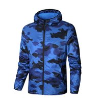 Wholesale mens overcoat spring - Brand Designer Mens Luxury Jackets New Fashion Print Coats Spring Overcoat Sportswear Outerwear High Quality Plus Size Camouflage
