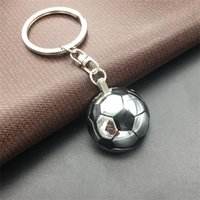Wholesale design mini fan - 2018 World Cup Fashion Mini Half Football Keys Ring Sports Soccer Design Key Charm For Car Fans Keychain Cute Buckle 2 5mm Z