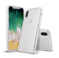 ingrosso trasparente acrilico trasparente-TPU Frame Hard Acrilico posteriore trasparente Custodia trasparente Cover per iPhone X 8 7 6S Plus Samsung S8 Plus Nota 8 Bordo S7