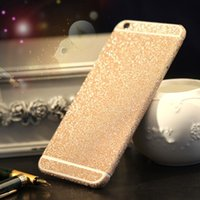 iphone ön derileri toptan satış-Glitter Bling Parlak Tam Vücut Etiket Mat Cilt Ekran Koruyucu Için iphone7 7 artı 6 6 S artı 5 5 S Samsung S7 kenar S8 artı Ön + Geri çıkartmalar