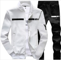 Wholesale Hoodies Big Size - New Brand Designer Tracksuit Men Luxury Winter Sportswear Hoodies Coat New Fashion Mens Tracksuits Zipper Sets Big Size Coat Pant