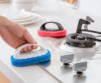 Wholesale tile accessories for sale - Group buy Magic sponge eraser Bath Tiles Brush Wash Pot Clean Brush Sponge bathroom accessories Kitchen cleaning brush