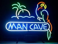 ingrosso luce del neon pappagallo-New Man Cave Parrot Glass Neon Sign light Birra Bar Sign Invia bisogno di foto 19x15