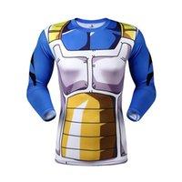 langarmshirt drache großhandel-Dragon Ball Z Super Saiyan komprimierung t-shirt t-shirts anime Langarm T-shirt tops