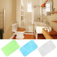 Wholesale massaging shower mat resale online - Large Strong Suction Anti Non Slip Bath Shower Mat Foot Massage Cushion PVC Cheap Price