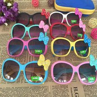 Wholesale cute frames - Kids Sunglasses Girls Glasses Baby Bow Eyewear kids cute bow children glasses girls boys accessories KKA4066