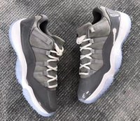 Wholesale top low cut basketball shoes - Real Carbon Fiber 11 11s Low Cool Grey Basketball Shoes Men Top Quality 11s Cool Grey Low Sneakers With Shoes Box