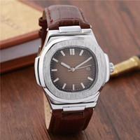 Wholesale men simple style watch - Simple Style Original Mens Watches Luxury Brand Watches Fashion Quartz Wristwatches Leather strap Calendar Business Men Watch