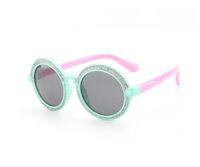 menina novos óculos de sol venda por atacado-Spot 2018 novas crianças óculos de sol caixa grande rodada óculos de sol meninos e meninas moda tendência óculos de sol 8126