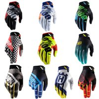 Wholesale long gloves for men - 15 Styles Off-Road Motocross Gloves Outdoor Sports Protective Gear Long Finger Gloves Bicycle Riding 100% Gloves For Men Boys Free DHL H522F