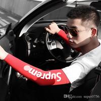 летние длинные перчатки оптовых-Летние солнцезащитные рукава для наружного вождения для вождения прохладных ледяных шелковых рукавов эластичные длинные перчатки Длинные перчатки Солнцезащитная защита от ультрафиолетовых лучей
