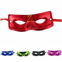 máscara de tecido preto venda por atacado-Unisex Rosto Preto Masquerade Máscara de Zorro Bauta Não Tecidos Langer Ranger Bandit Robber Fancy Dress Costume Partido Decoracion de fiesta