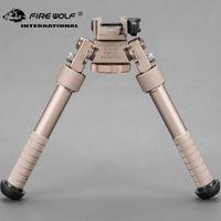 Wholesale 2018 New BT10 LW17 V8 Atlas degrees Adjustable Precision Bipod QD Mount For Rifle Hunting Mount Dark Earth DE