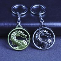 Wholesale metal dragon keychain for sale - Group buy Dragon Keychain Hot Game Mortal Kombat Key Ring Metal Key Holder For Gift Chaveiro Key chain Jewelry for car