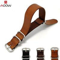ingrosso fibbia da 18 mm-Cinturino cinturino in pelle AOOW ZULU cinturino cinturino cinturino NATO 18mm 20mm 22mm