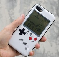 Wholesale Game Console Cases - 3D Silicone Russian game Retro Game Consoles Phone Back Game case TPU for iPhone 6 7 8 Cover Protective Shell Black White