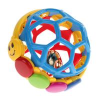 top oyuncak çıngıraklı toptan satış-Babe Einstein Buzz Topu Bendy Bebek Yürüteç Sallandı Prewalker Top Zıplatma Toddlers Eğlenceli Renkli Etkinlik Eğitici Oyuncaklar