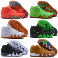 Wholesale mesh charms for sale - Group buy Kyrie IV Green Lucky Charms Mens All New Easter Halloween Basketball Shoes For sale Sports shoes