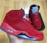 Wholesale cool leather mens boots - Cheap V 5 RED SUEDE Raging Bull 3m Pro Stars 5s Olympic Gold Cool Wolf Grey Basketball Shoes Mens Sports Boots Athletics Sneakers