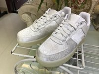 Wholesale Air F - Airs F 1 PRM CLOT WHITE BLANC BASKETBALL SHOES Premium AO9286-100 Embroid BASKETBOL SHOES White SNEAKERS