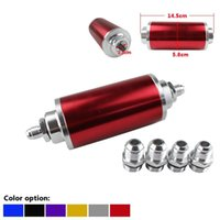 Wholesale Universal mm Car Fuel Filter Anodized Aluminum Inlet Outlet Flow Filter With AN6 AN8 AN10 Adaptor