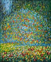 ingrosso apple deco-Famoso Gustav Klimt - Albero di mele I dipinto a mano HD Stampa Pittura ad olio di arte astratta Home Deco su tela di alta qualità gs02