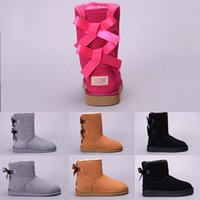 Wholesale casual shoes shorts resale online - Women Winter Snow Boots Australia WGG Boot Lady Tall Short kneel Ankle Black Grey Navy Blue Red Designer Casual Outdoor Shoes Size