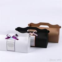 cajas de cupcakes kraft al por mayor-Kraft Paper Cupcake Postre Box Multi Color DIY Hornear Cajas de embalaje Banquete de boda Candy Wraps Suministros Nuevo 0 85ak ZZ