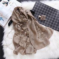 Wholesale silk muslim hijab - Laven women silk polyester printe flower scarf muslim hijab wrap floral scarves Muffler scarves shawls 185*70cm 10pcs lot