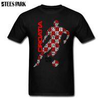ingrosso camicie estive junior-T Shirt Croatia Footballer Tipografia Divertenti Magliette Hip Hop Popolare Camicia da uomo per Juniors 2018 Summer Hot Fashion