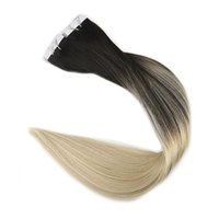 Wholesale hair extension tape 613 - Balayage Ombre Tape in Human Hair Extensions Dye Hair Color #1B to #613 Skin Weft Remy Hair Extensions 20pps 40pcs 2.5g pc