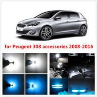 Wholesale bulbs packaging - WLJH Canbus LED Front Rear Dome Map Light Trunk LED Interior Bulb Lamp LED Kit Package for Peugeot accessories