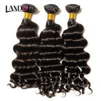 en iyi kıvırcık saç paketleri toptan satış-En iyi 10A Işlenmemiş Bakire Brezilyalı Gevşek Derin Dalga Kıvırcık İnsan Saç Dokuma 3/4 Demetleri Perulu Hint Malezya Remy Saç Manikür Hizalanmış