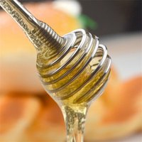 Wholesale coffee blender - Practical Long Handle Stainless Steel Honey Bee Stirring Creative Liquid Coffee Muddler Juicer Mixer ECO Friendly Egg Blender Rod 2yd Z