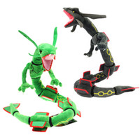 Wholesale valentines soft toys resale online - Hot New Styles Green Black Rayquaza quot CM Plush Doll Anime Collectible Dolls Stuffed Party Gifts Soft Toys