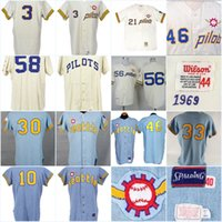 jerseys gris orden al por mayor-100 ° aniversario 1969 Joe Schultz