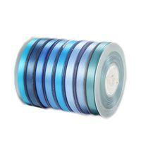 6мм атласная лента оптовых-Двусторонняя лента Grosgrain Ribbed Petersham Satin 6mm 1/4 дюйма 196 Цвет 100Yard / roll Reel Blue Wholesale