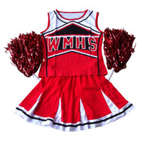 Wholesale cheer tops - Tank top Petticoat Pom cheerleader cheer leaders S (30-32) 2 piece suit new red costume