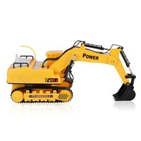 Wholesale Rc Engine Car - Kids RC Engineer Truck Car Toys Auto Demo Electric Excavator with Light Music Crawler Digger Engine Vehicle Model Toys For Boy