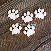 Wholesale mdf decorations for sale - Group buy Wooden MDF Dog Cats PawsShape MDF Craft Tags Embellishments Decoration
