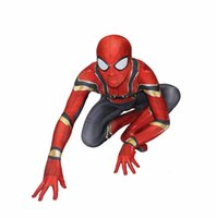 Wholesale spandex body suit costume - Hot Sale High Quality Mens adult Halloween Spiderman costume Lycra zentai SuperHero Theme Costume cosplay Full Body Suit