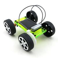 diy güneş araç kiti toptan satış-1 Takım Mini Güneş Enerjili Oyuncak DIY Araç Kiti Çocuk Eğitim Gadget Hobi Komik Çocuklar Çocuklar Için Oyuncaklar Oynayan Bırak Nakliye
