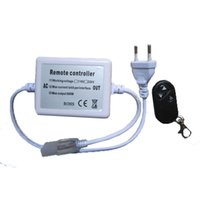 atenuador de voltaje al por mayor-envío libre 10pcs de alto voltaje 500w control remoto inalámbrico RF 110V 220V LED dimmer 3keys 50 metros