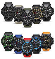 Wholesale men gear watch resale online - Multi Function Digital Military Watch Outdoor Sports Man Alarm Clock Waterproof Luminous Colourful Tactical Gear Watches Jewelry GGA640